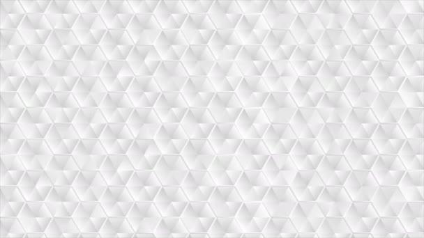 Absztrakt szürke hatszög textúra videó animáció