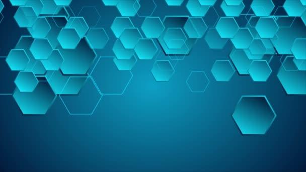 dunkelblaue geometrische Videoanimation