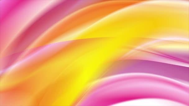 Fényes sárga és rózsaszín hullámok absztrakt OVA epizódnak