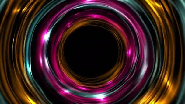 Zářící neonové barevné vyzvánění kruhy animace videa