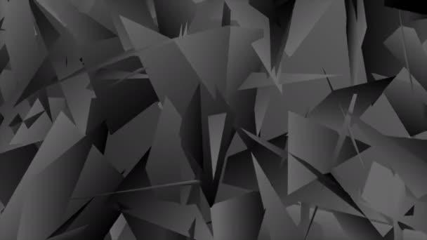 Tmavě šedá abstraktní technická polygonální video animace