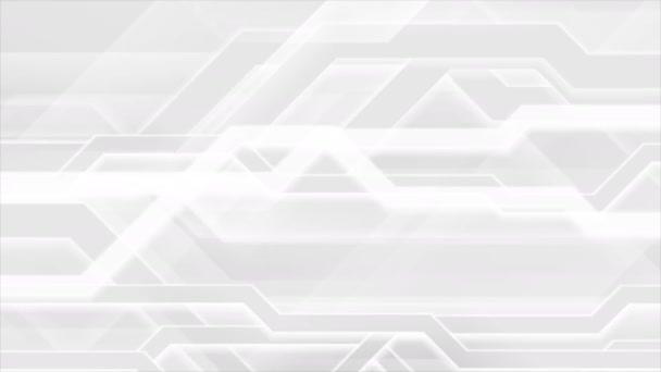 grau-weiße abstrakte High-Tech-Videoanimation