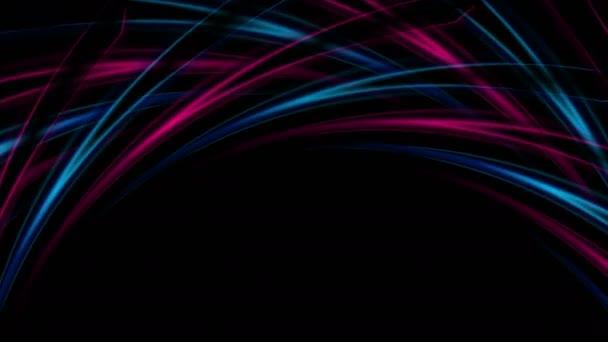 Modrý a fialový abstrakt zakřivené tvary animace videa