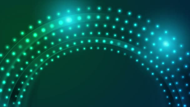 Neonové kontrolky abstraktní kružnice video animace