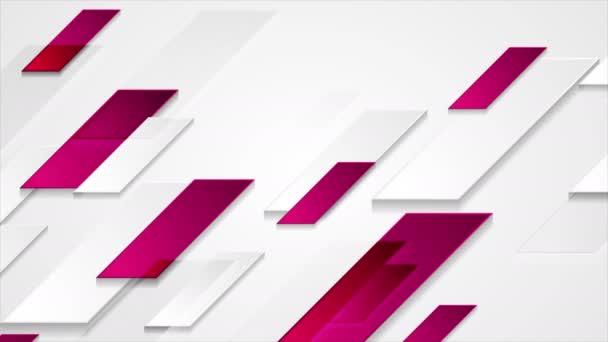 Fényes lila szürke absztrakt geometriai Tech video animáció