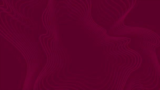 Élénk lila absztrakt hullámos mintás videó animáció