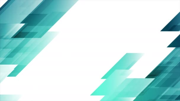 Bright blue abstract tech geometric video animation