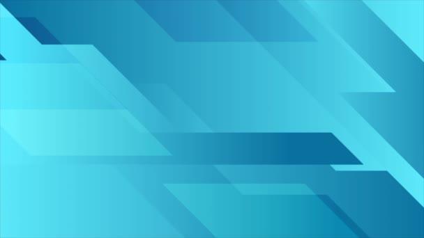 Modrá abstraktní geometrická minimální technická animace