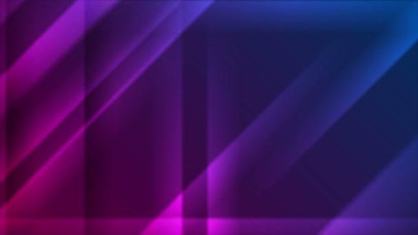 Kék lila izzó sima csíkok video animáció