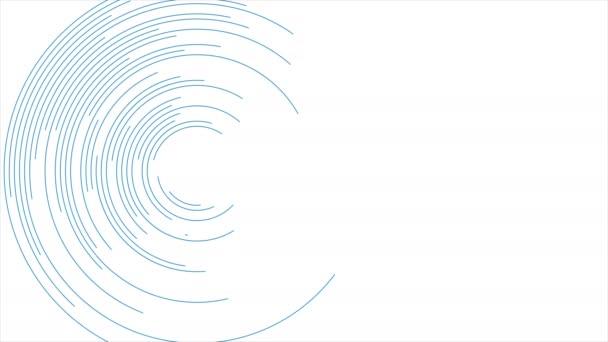 Kék kör alakú vonalak absztrakt futurisztikus videó animáció