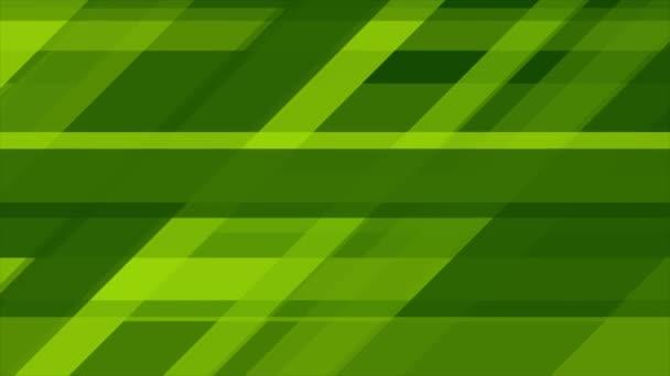 Jasně zelená technika abstraktní geometrické video animace
