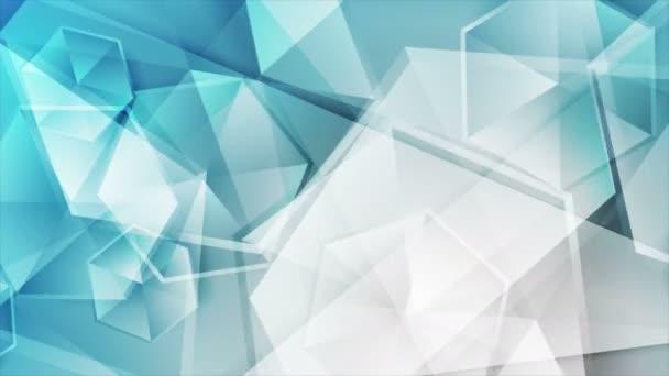Modrá šedá technika polygonální abstraktní video animace