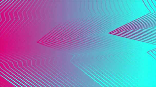 Rózsaszín és kék absztrakt görbe megtörik vonalak video animáció