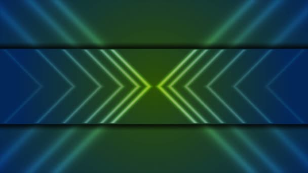 Technology video animation with neon arrows