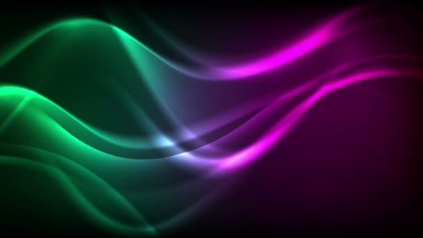 Zelené fialové neonové kapalné vlny video animace