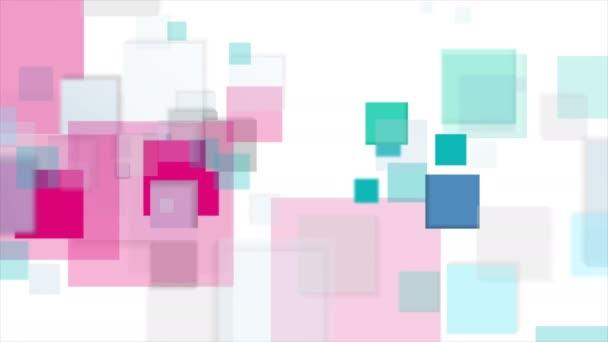 Cyan és rózsaszín négyzetek tech elvont videó animáció