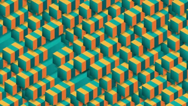 helle 3D-geometrische Tech-Formen abstrakte Videoanimation