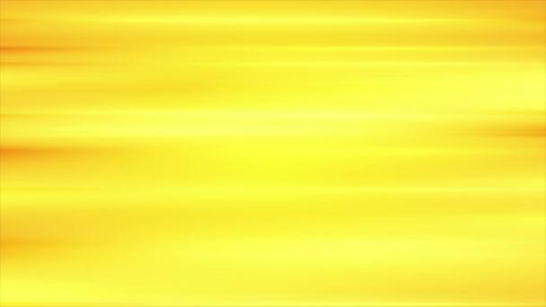 Élénk sárga lágy csíkok elvont videó animáció