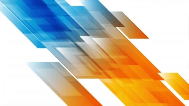 Vibrující abstraktní tech geometrické video animace