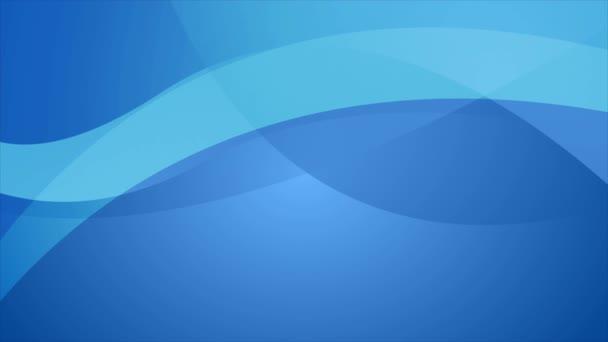 Abstraktní modré elegantní vlny video animace