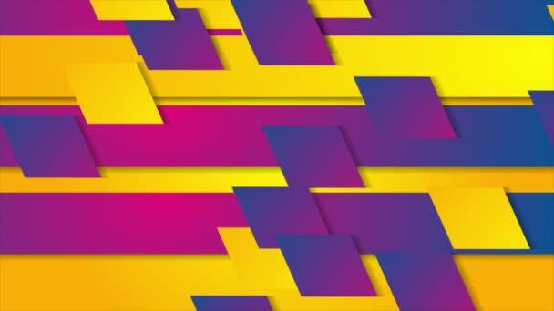Barevná geometrická abstraktní animace videa