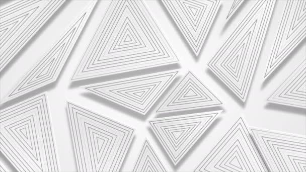 Tech geometrikus alacsony poli elvont szürke mozgás háttér