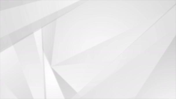 Šedá minimální nízká poly abstraktní technologie firemní pohyb pozadí