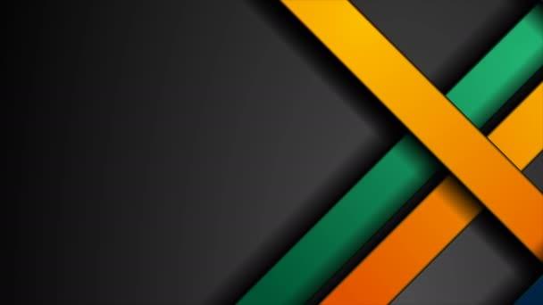 Abstraktní geometrický design pohybu s barevnými pruhy