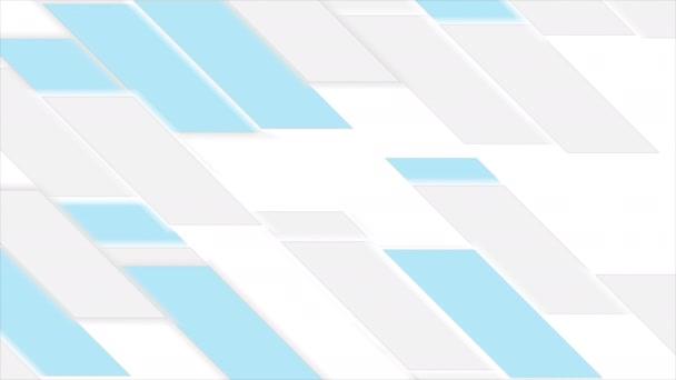 Abstraktní šedá modrá geometrické dlaždice video animace