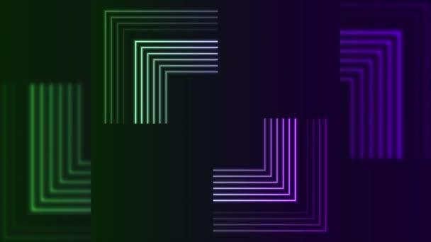 Bright laser neon arrows technology video animation