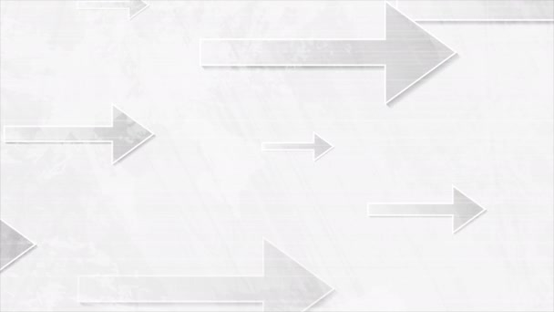 Technology white grunge motion design with grey arrows