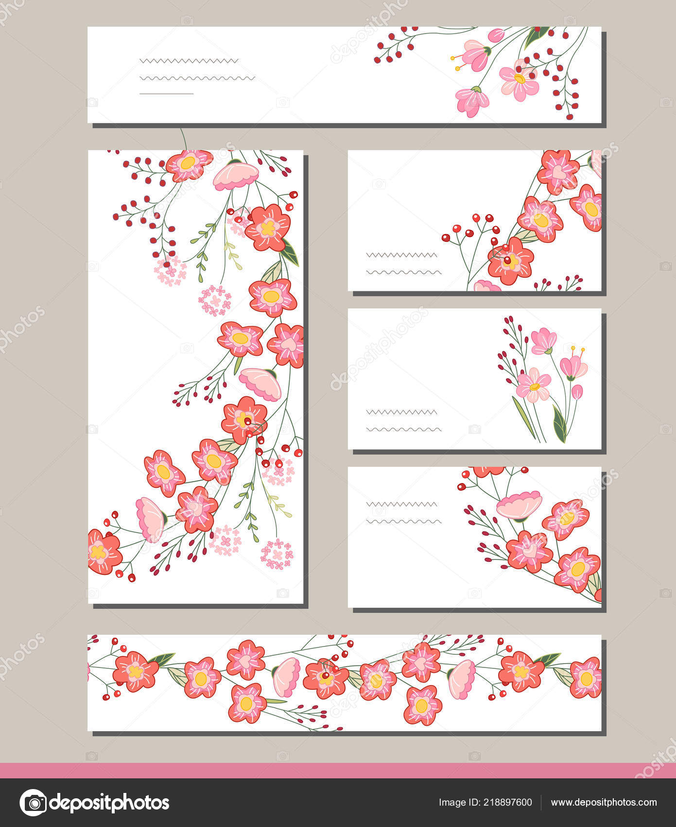floral spring templates cute bunches red roses romantic easter