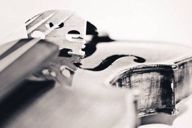 Close-up on violin (Desaturated)