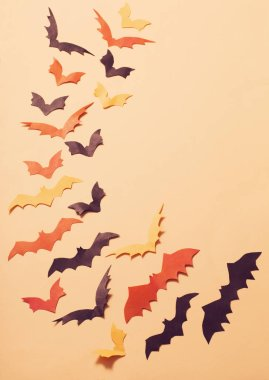 the paper bats on paper background