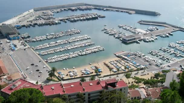 Yacht club with large number of boats, yachts, sailboat