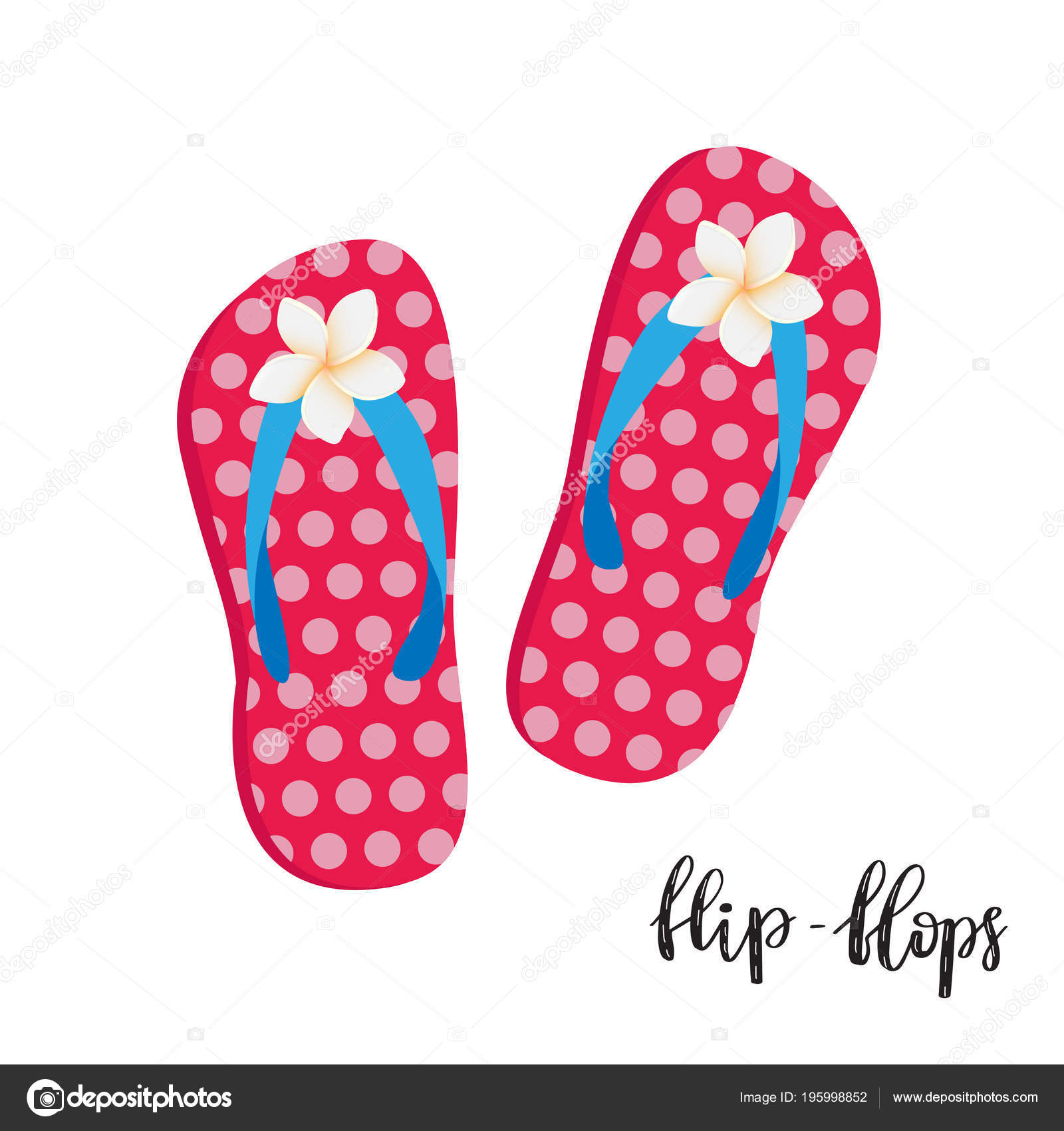 1bbb69db5e8d74 Flip Flops Illustration Cute Pink Woman Pair Beach Shoes Isolated — Stock  Vector
