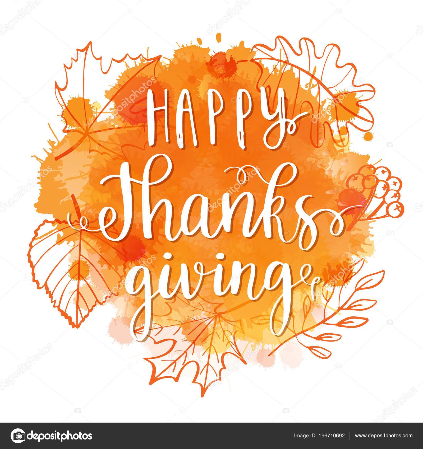 Feliz Día Gracias Letras Frase Otoño Corona Hojas Sobre
