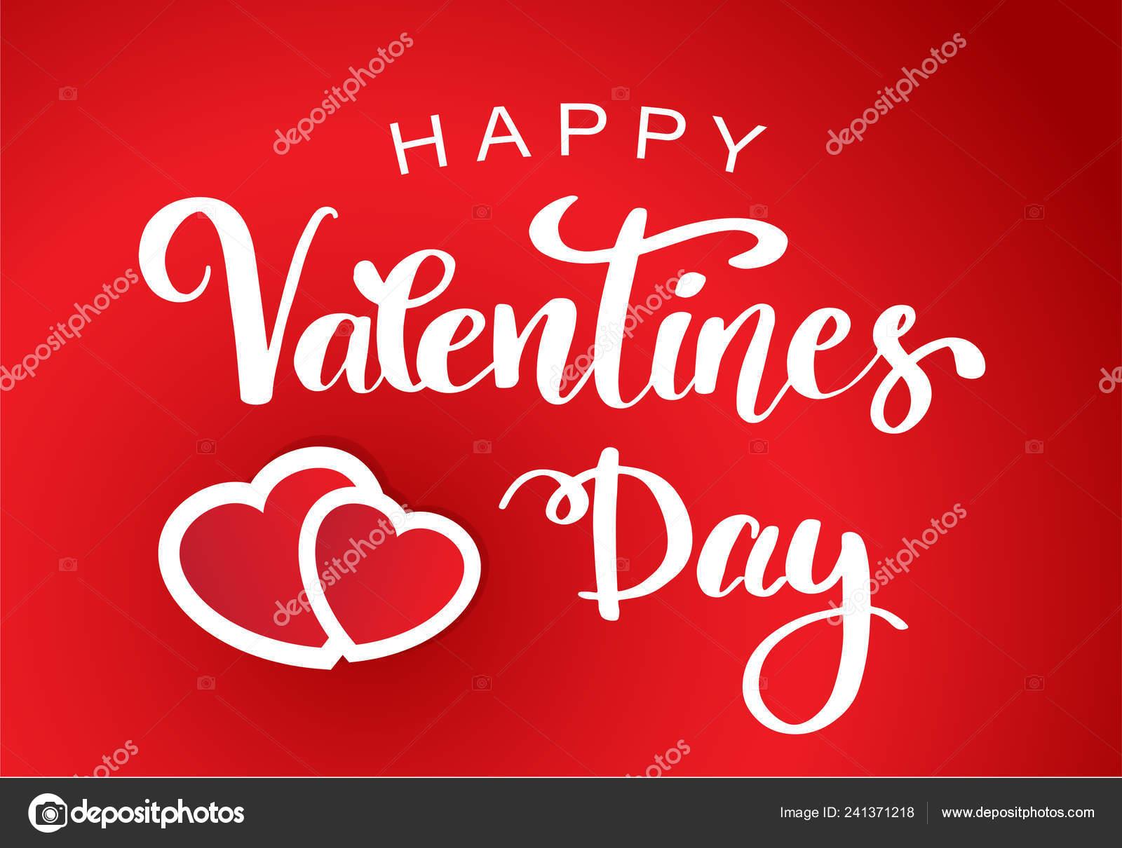 Feliz Día San Valentín Cartel Tipografía Con Frase