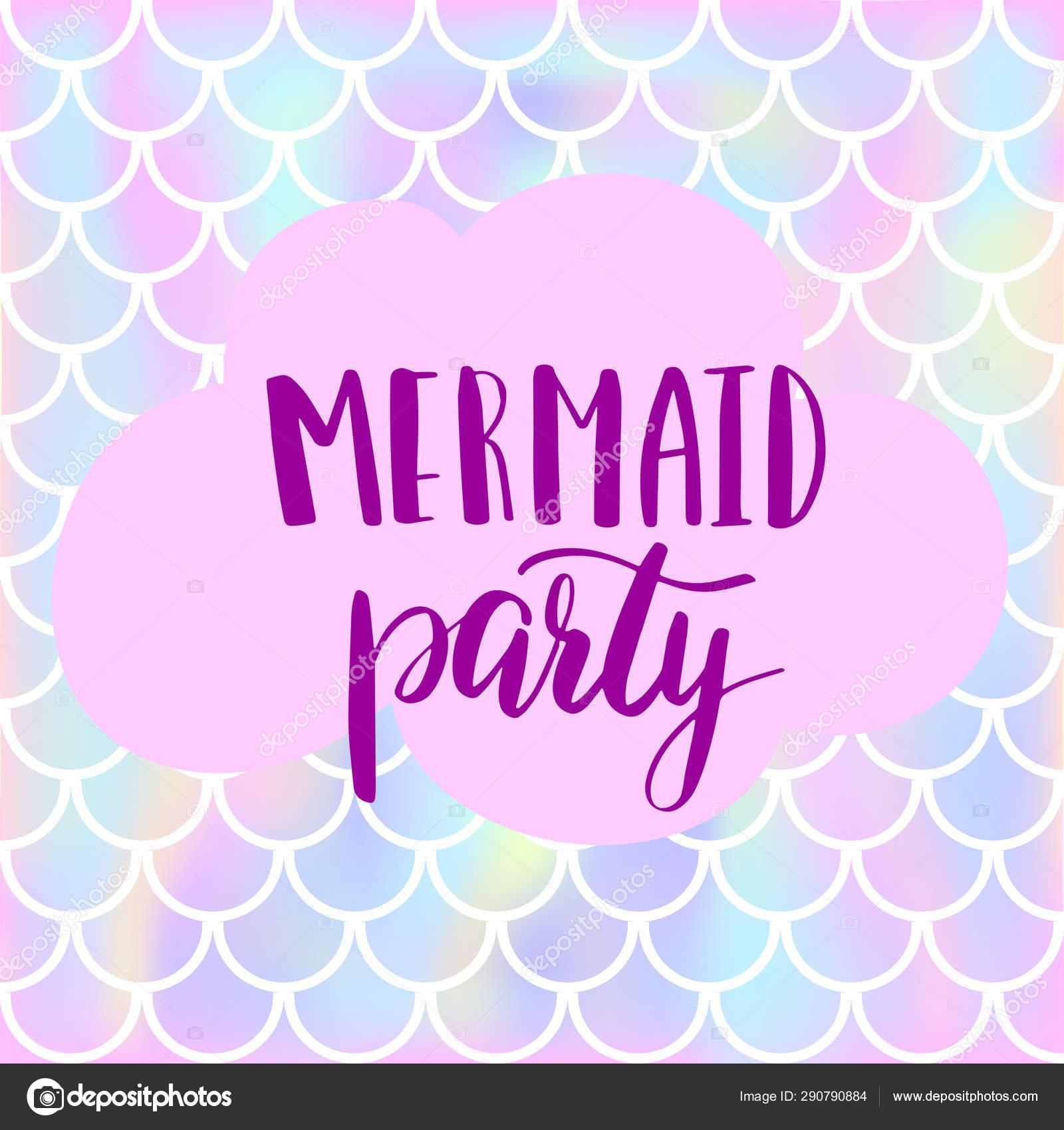Tarjeta De Invitación De Fiesta De Sirena Para Niña Los