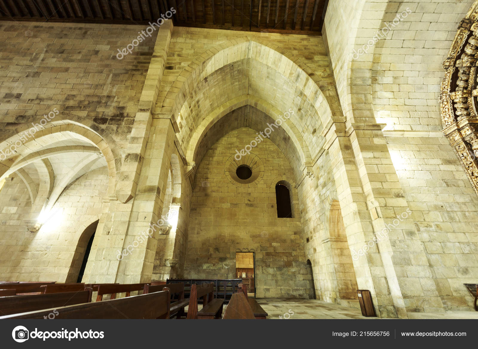 View Arm Transept Sharp Pointed Arch Early Gothic