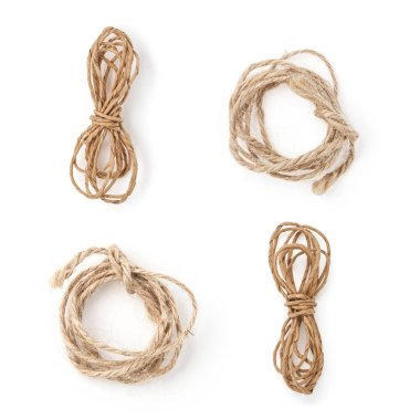 Jute rope isolated on white background for your design