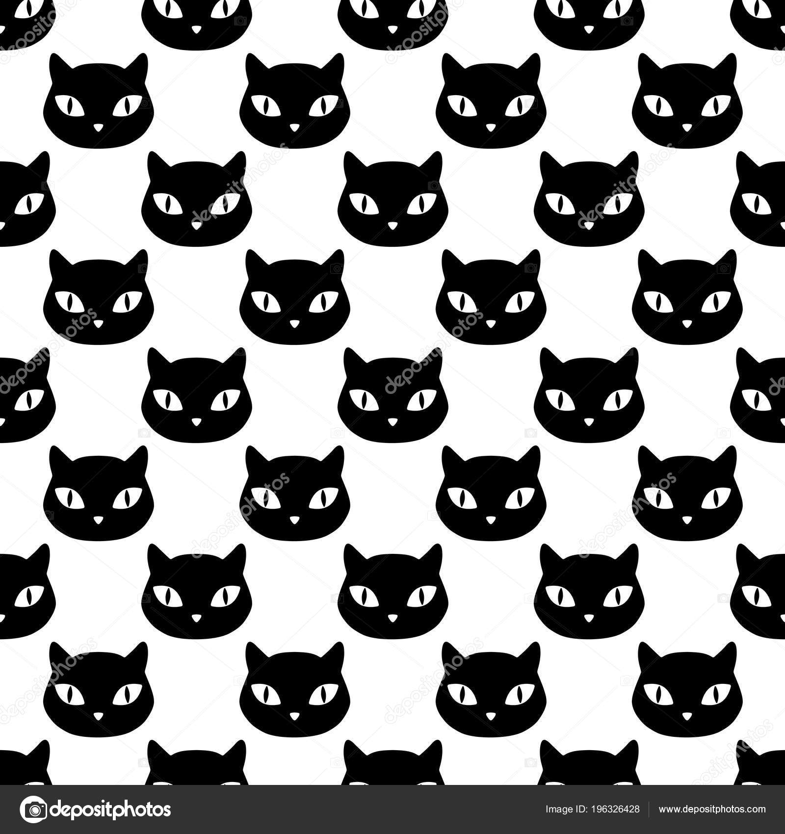 Cabeza Gato Doméstico Del Animal Doméstico Patrones Sin Fisuras ...