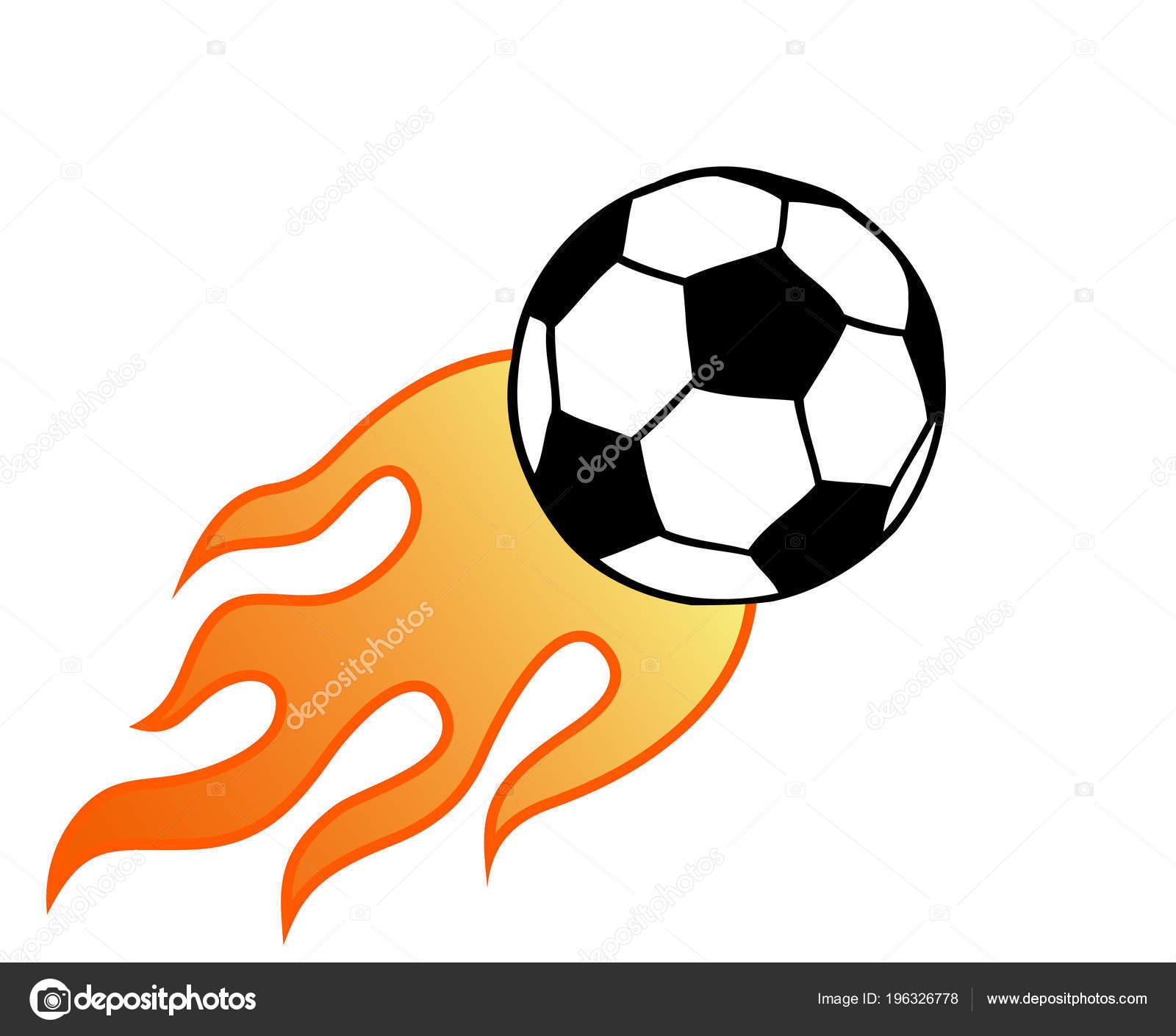 Vuelo Ardiente Fútbol Pelota Futbol Con Llama Vectoriales Ilustración  Aislado — Vector de stock 7249df86b0705