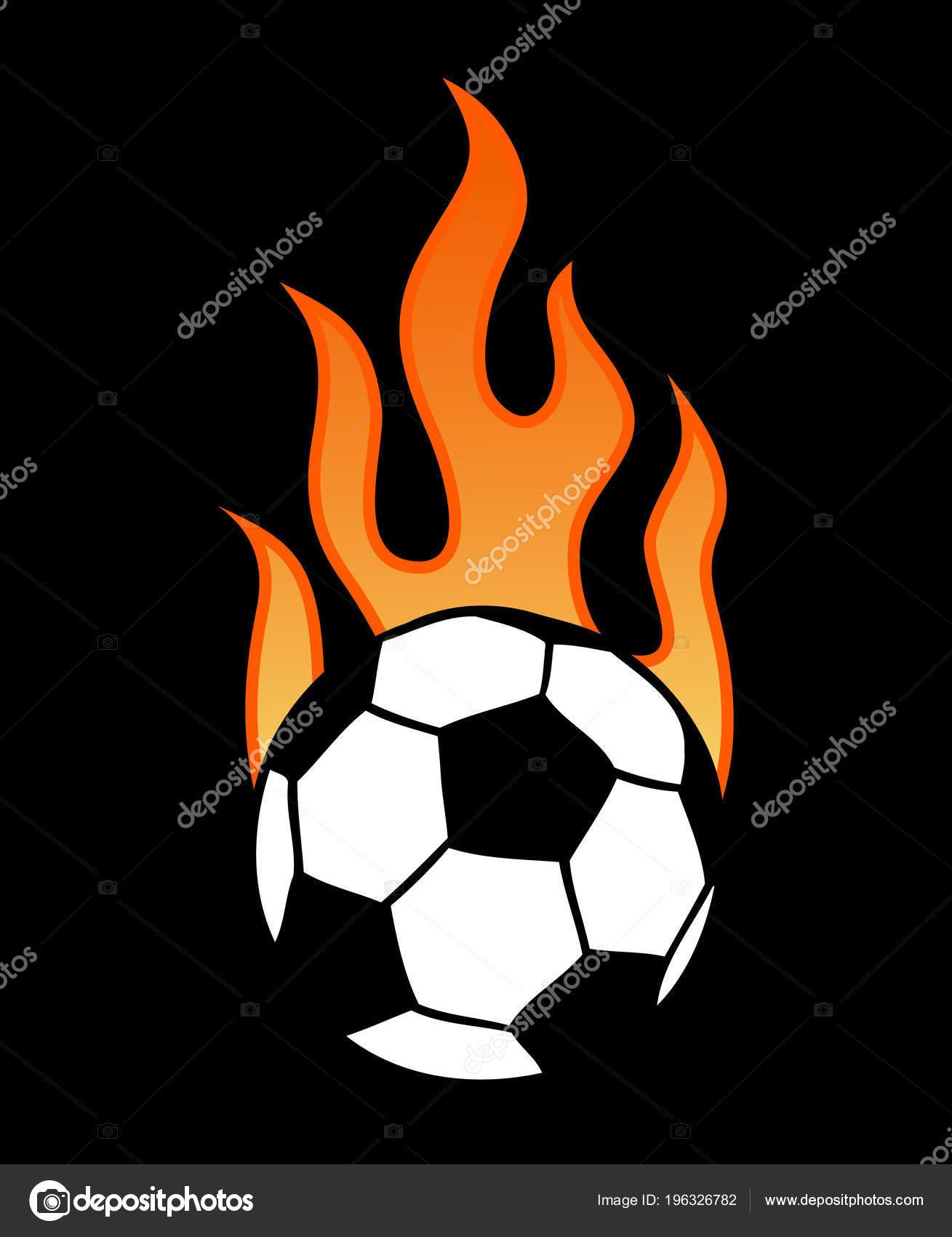 Ardiente Fútbol Pelota Futbol Con Ilustración Vector Llama Aislado Sobre —  Archivo Imágenes Vectoriales 0ca438c0104d3