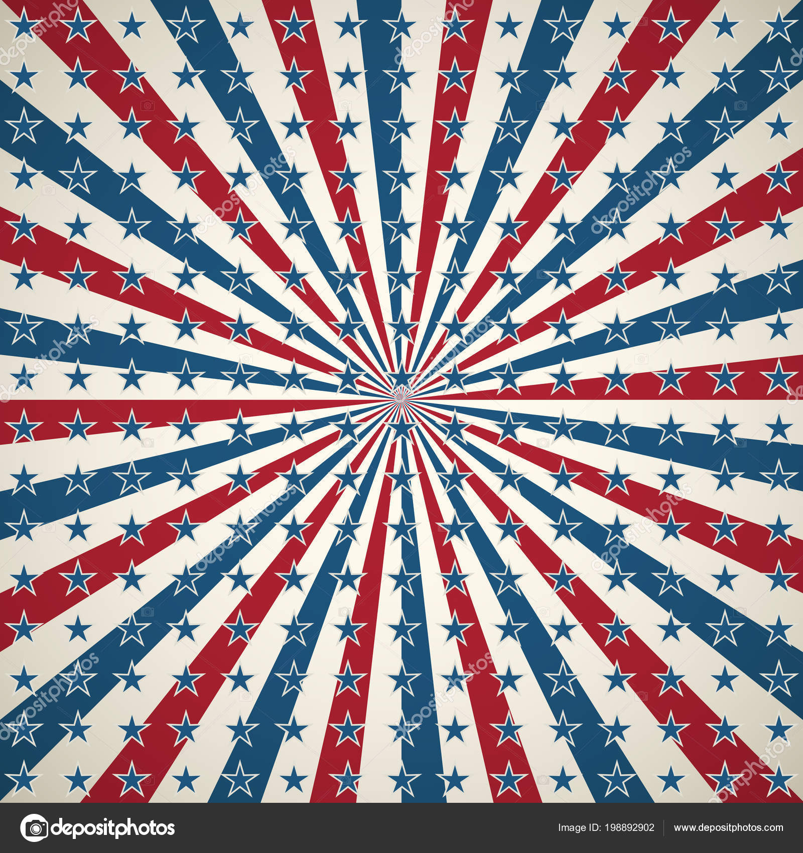 American Patriotic Background United States Independence Day Sqaure Design  Wallpaper U2014 Stock Vector