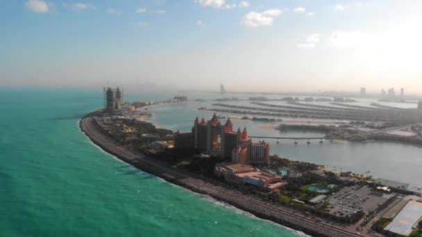 Panorama of Atlantis Hotel on Jumeirah Islands in Dubai.