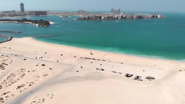 Dubais city Al Sufouh Beach from a great height.