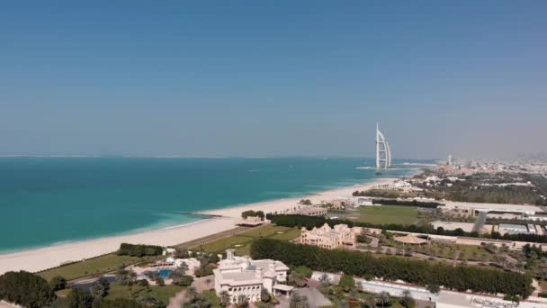 Panorama of Dubai with a view of the hotel Burj Al Arab Jumeirah