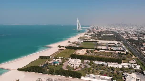 View of the hotel View of the hotel Burj Al Arab Jumeirah.Aerial.