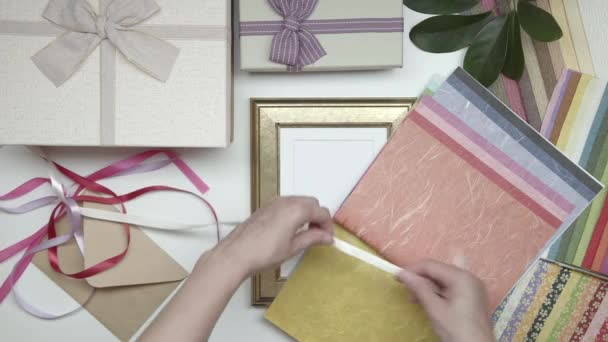 Wrapping photo frame as gift. Choose decor. 09. Part 03.